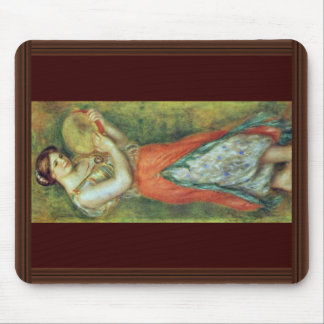 A Dancer With A Tambourine By Pierre-Auguste Mouse Pad