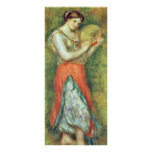A Dancer With A Tambourine By Pierre-Auguste Rack Card Template