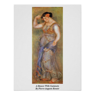 A Dancer With Castanets By Pierre-Auguste Renoir Print