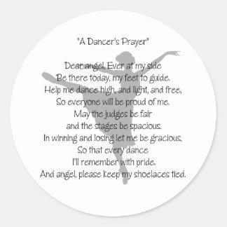A Dancer's Prayer Classic Round Sticker