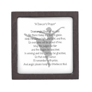 A Dancer's Prayer Keepsake Box