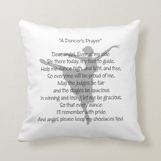 A Dancer's Prayer Throw Pillow