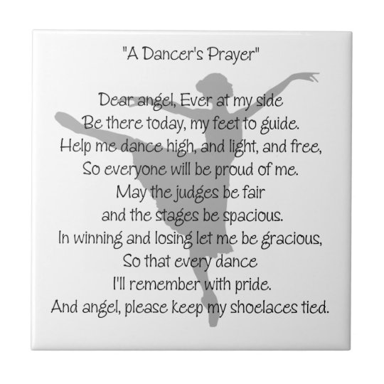 A Dancer's Prayer Tile