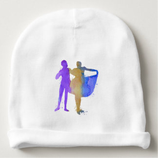 A dancing couple baby beanie
