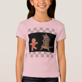 A Dancing Gingerbread Man and a Kitty T-Shirt