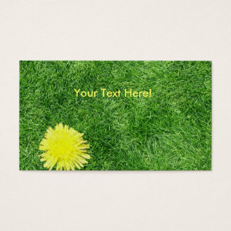 a dandelion in the grass business card
