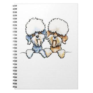 A Dandie Pair Spiral Notebook