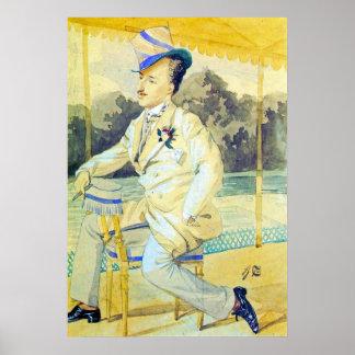 A dandy by James Tissot Poster