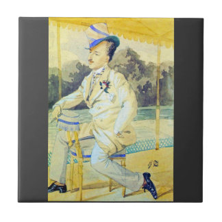 A dandy by James Tissot Tile