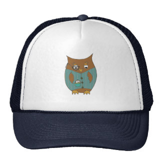 A dandy owl in waistcoat and monocle cap