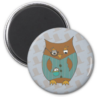 A Dandy Owl in waistcoat and monocle Magnet