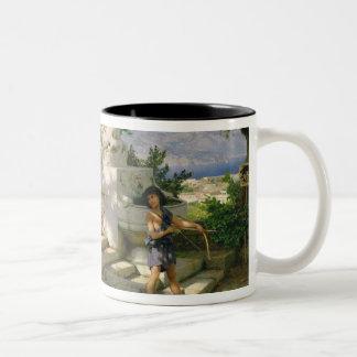 A dangerous lesson Two-Tone coffee mug
