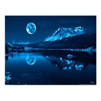 A Dark Blue... Cold Night.. Postcard
