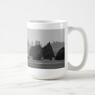 A Dark Coastline. Classic White Coffee Mug