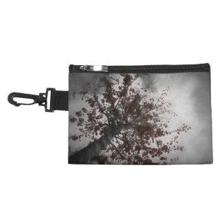 A Dark Fall Tree with Burgundy Leaves & a Dark Sky Accessory Bag