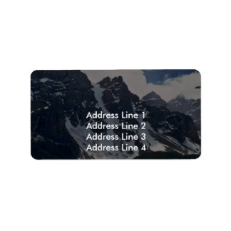 A Dark Mountain With Snow Patches Custom Address Label