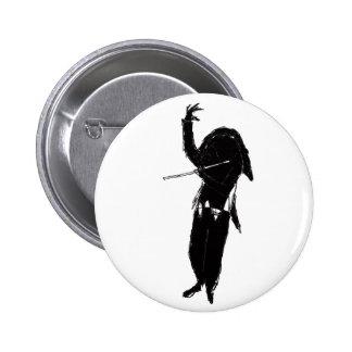 A Dark & Mystical Silhouette of a Flute Player Button