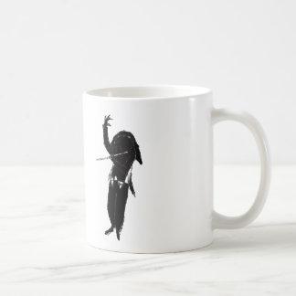 A Dark & Mystical Silhouette of a Flute Player Coffee Mug