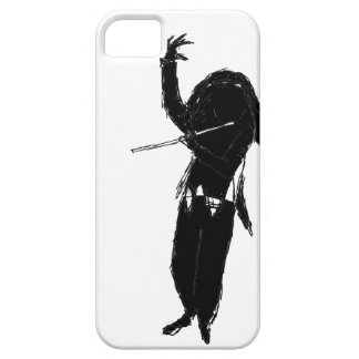 A Dark & Mystical Silhouette of a Flute Player iPhone SE/5/5s Case