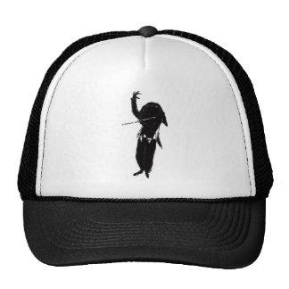 A Dark & Mystical Silhouette of a Flute Player Trucker Hat
