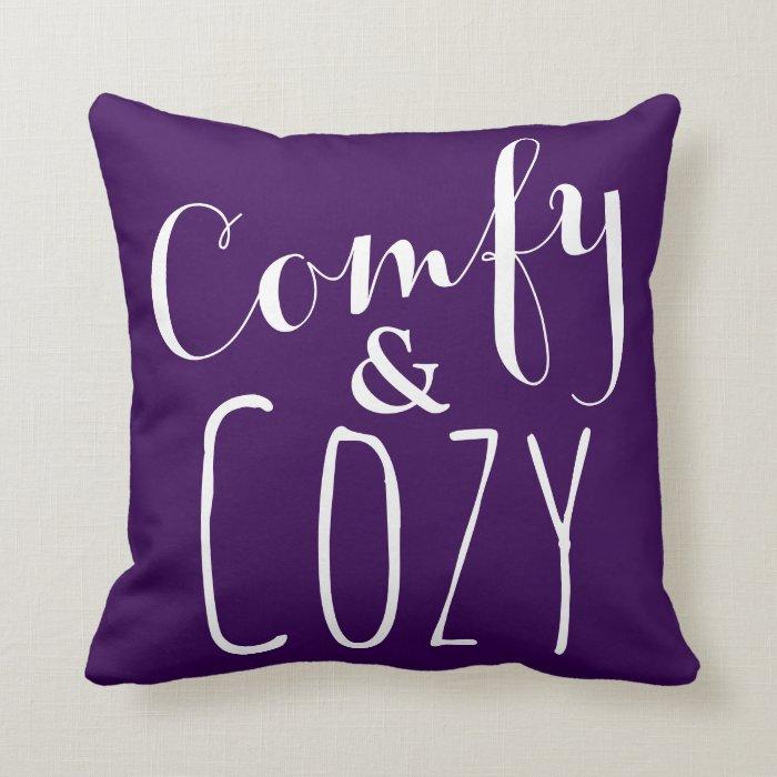 Big Comfortable Throw Pillows : A Dark Purple Comfy Throw Pillow - Cozy Home Decor Zazzle