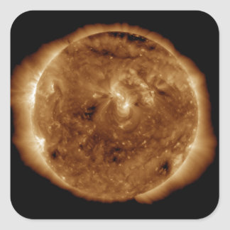 A dark rift in the sun's atmosphere square sticker