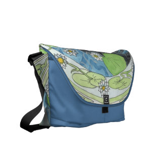 A Dark Underrcurrent Mermaid Messenger Bags