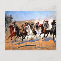 A Dash for the Timber, Frederick Remington artwork Postcard