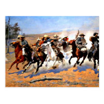 A Dash for the Timber, Frederick Remington artwork Postcard