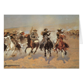 A Dash For Timber by Frederic Remington, Cowboys Greeting Card
