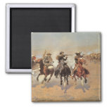 A Dash For Timber by Frederic Remington, Cowboys Fridge Magnets
