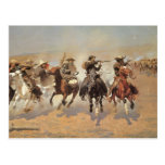 A Dash For Timber by Frederic Remington, Cowboys Postcard