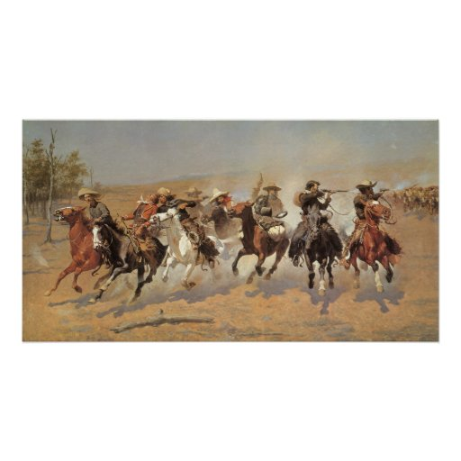 A Dash For Timber by Frederic Remington, Cowboys Posters