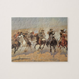 A Dash For Timber by Frederic Remington Cowboys Puzzle