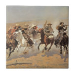 A Dash For Timber by Frederic Remington, Cowboys Tile