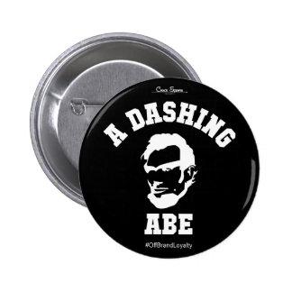 A Dashing Abe WHT Logo - Button