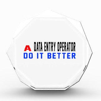 A Data entry operator Do It Better Awards