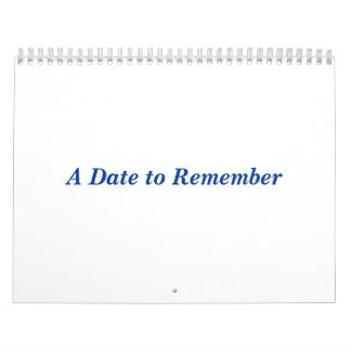 A Date to Remember Calendar