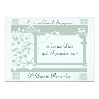 """A Date to Remember 5"""" X 7"""" Invitation Card"""