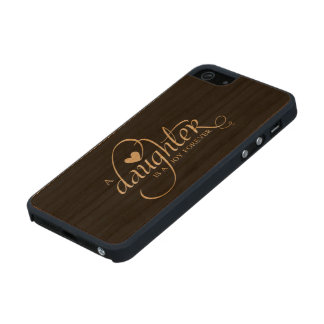"""""""A DAUGHTER IS A JOY FOREVER"""" GIFT FOR DAUGHTER CARVED® CHERRY iPhone 5 SLIM CASE"""