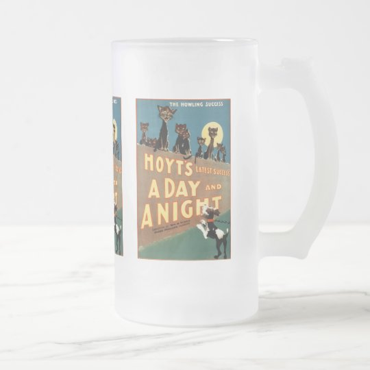 A Day and a Night - The Howling Success Frosted Glass Beer Mug
