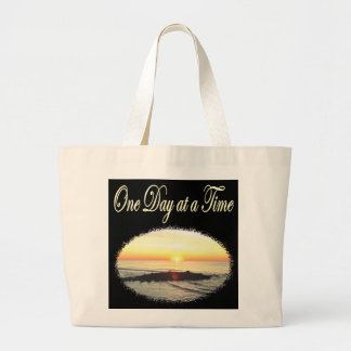 A DAY AT A TIME SUNRISE PHOTO LARGE TOTE BAG