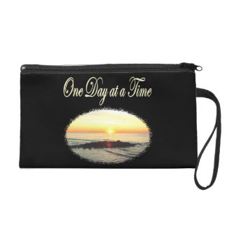 A DAY AT A TIME SUNRISE PHOTO WRISTLET PURSE