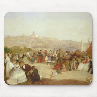 A Day at Boulogne, 1870 (oil on canvas) Mouse Pad