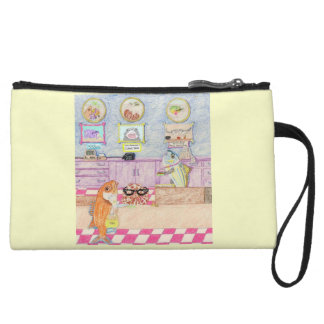 A Day At The Bank Wristlet Wallet