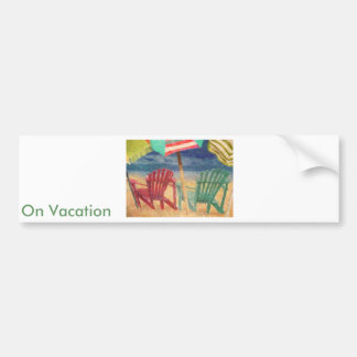 A Day At The Beach Bumper Stickers