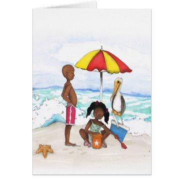 Beach Themed A Day At the Beach Card