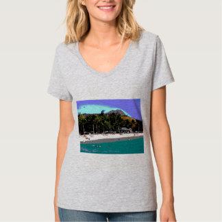 A Day at the Beach Digital Art T-Shirt
