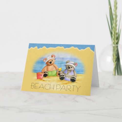 A Day at The Beach Invitation-Customize zazzle_card