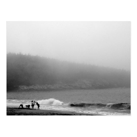 A Day at the Beach - Maine Postcard